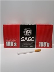 SAGO 100s Tubes 1000 Count - Product Image